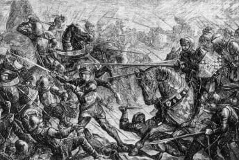 The Battle of Towton (1461) during the War of the Roses.