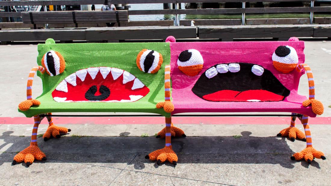 10 Impressive Yarnbombing Projects | Mental Floss