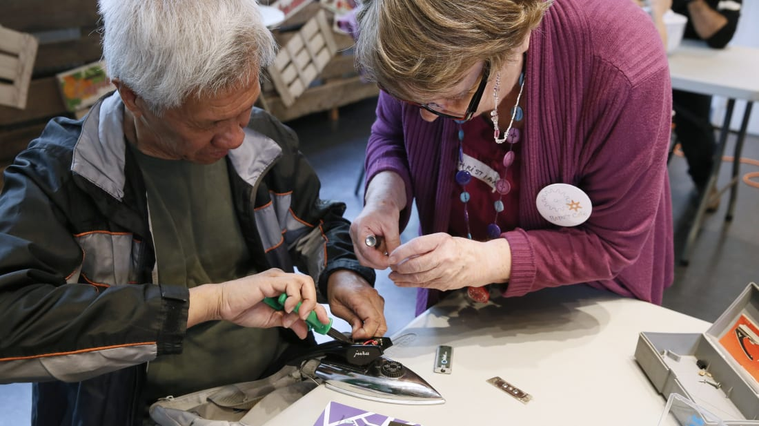 A Repair Cafe event in Paris, 2014