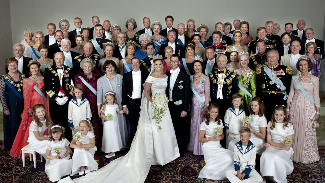 Royals from Norway, Denmark, Belgium, Monaco, and elsewhere gathered at the 2010 wedding of Crown Princess Victoria of Sweden.