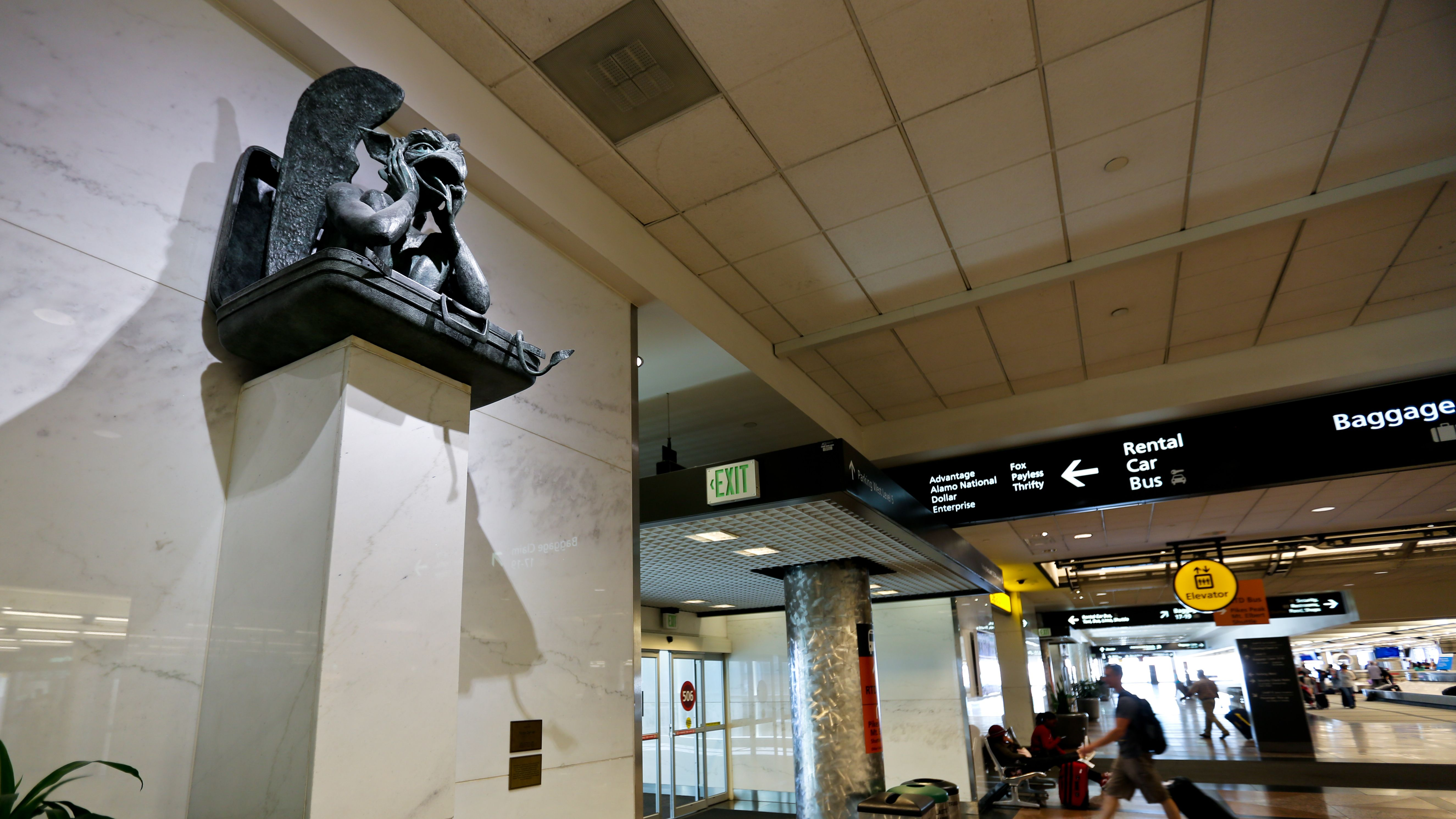 Denver International Airport Installs Talking Gargoyle as a Nod to Conspiracy Theories
