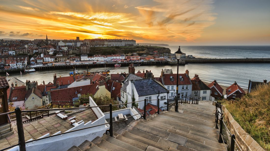 Whitby as seen from the top of the 199 Steps