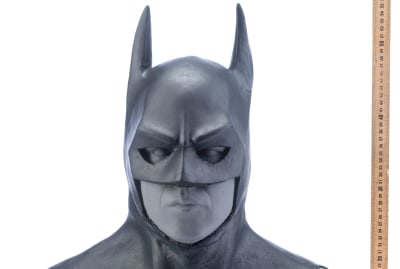 The cowl worn by Michael Keaton in Tim Burton's Batman (1989) could sell for more than $25,000.