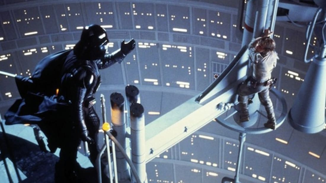 Darth Vader and Luke Skywalker go head-to-head in The Empire Strikes Back (1980).