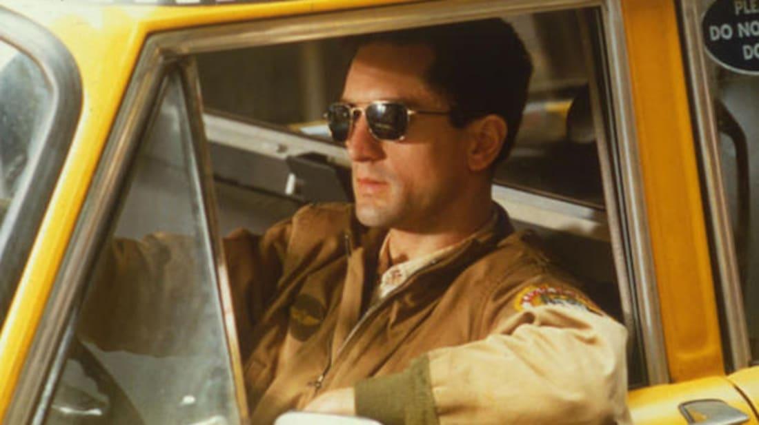Robert De Niro stars as Travis Bickle in Martin Scorsese's Taxi Driver (1976).