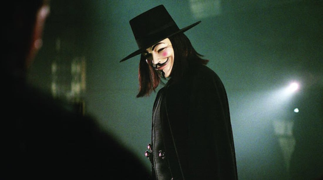 Hugo Weaving in V for Vendetta (2005).