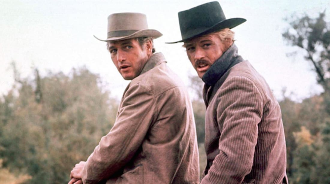 Paul Newman and Robert Redford star in Butch Cassidy and the Sundance Kid (1969).