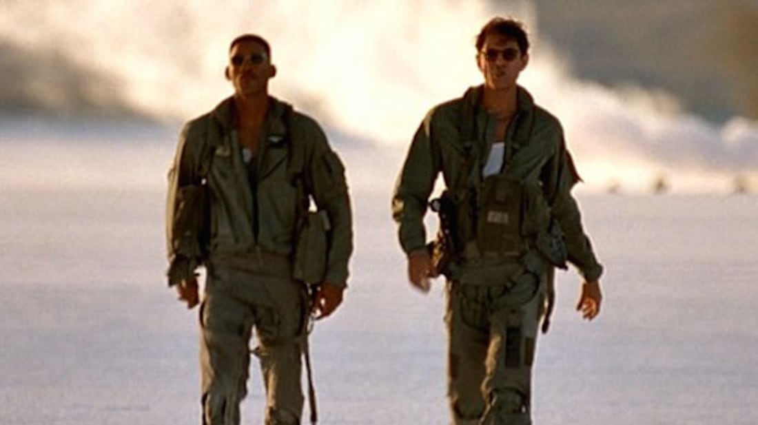 Will Smith and Jeff Goldblum in Independence Day (1996).