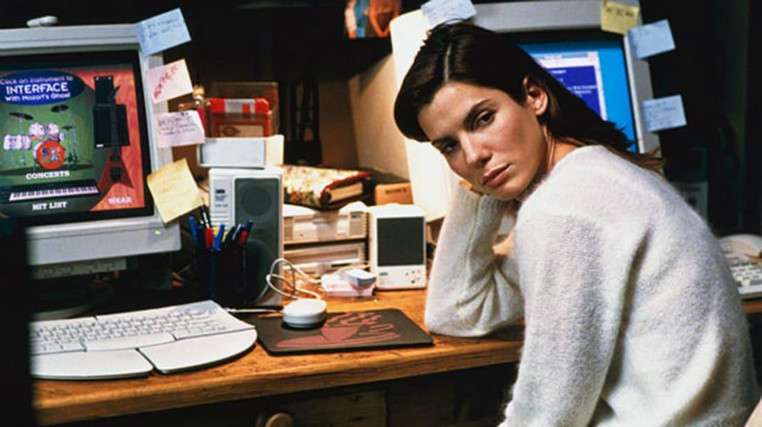 Sandra Bullock stars in The Net (1995).