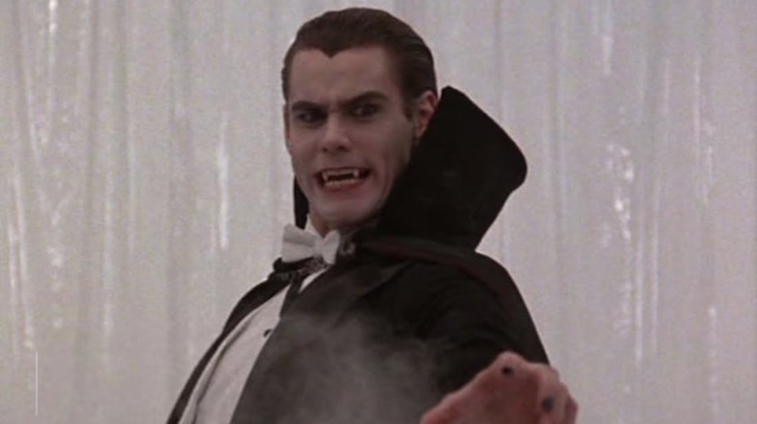 Jim Carrey stars in Once Bitten (1985).