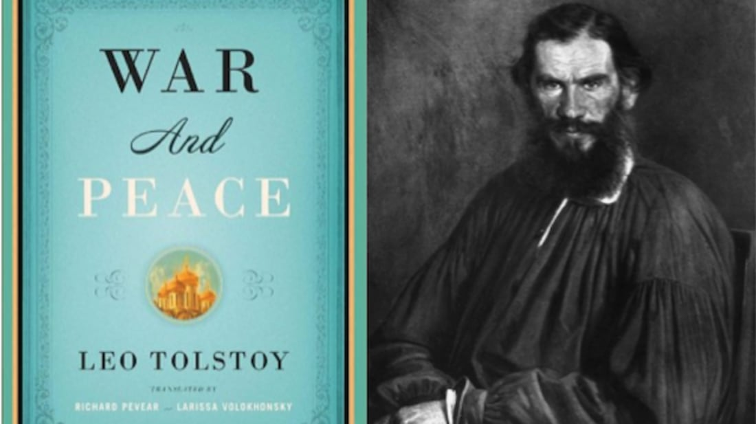 GETTY IMAGES (TOLSTOY) // AMAZON (BOOK COVER)