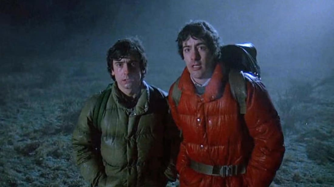 Griffin Dunne and David Naughton in An American Werewolf in London (1981).