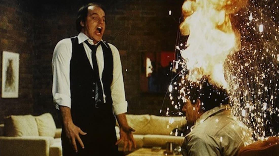 A scene from David Cronenberg'sScanners(1981).