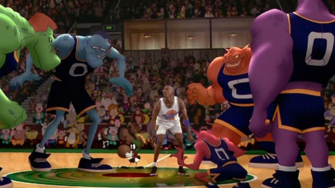 Michael Jordan stars in Space Jam (1996).