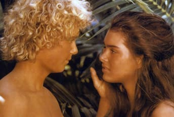 Christopher Atkins and Brooke Shields star in The Blue Lagoon (1980).