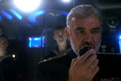 Sean Connery stars in The Hunt for Red October (1990).