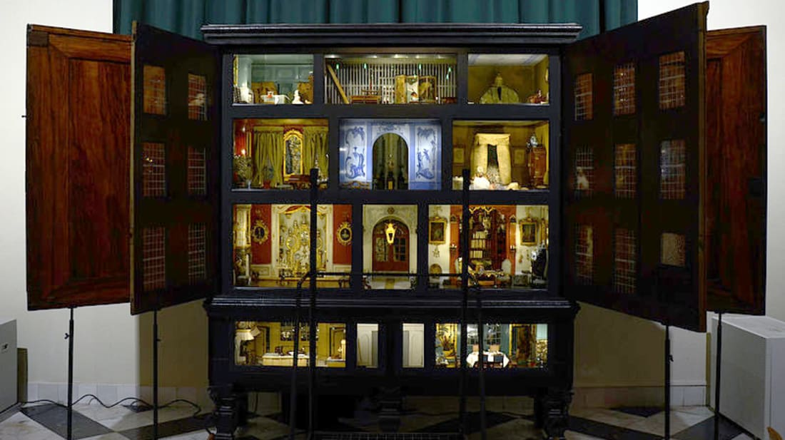 A dollhouse in the Frans Hals Museum