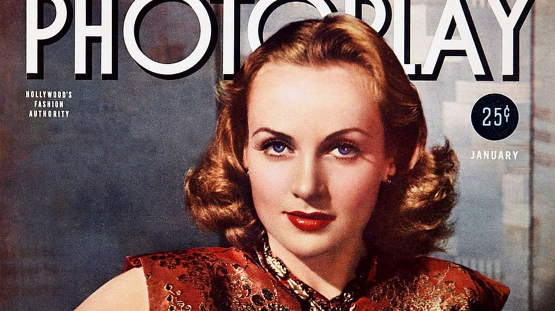 Glamorous Carole Lombard on the cover of Photoplay.