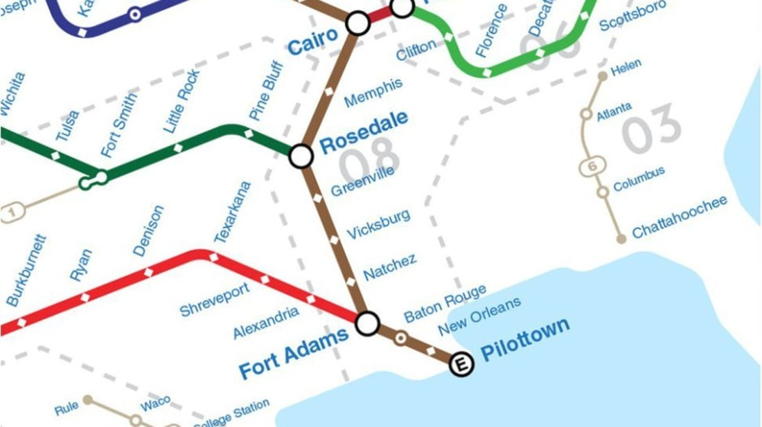 Rivers Subway Map.Graphic Designer Visualizes America S Major Rivers As Subway Routes