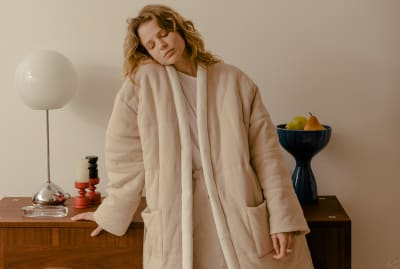 It's hard to get cozier than the Homecoat.