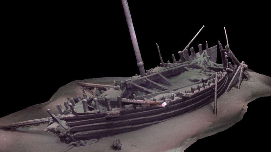 Rendering of a Roman ship hull by Black Sea MAP researchers.