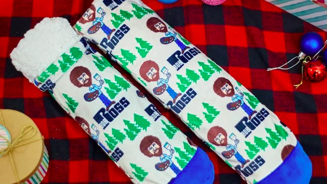 Get Cozy With Bob Ross Slipper Socks