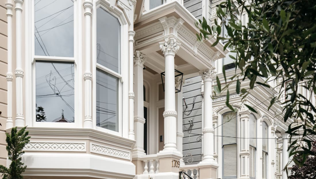 The exterior of the San Francisco home that was used in the opening of Full House.