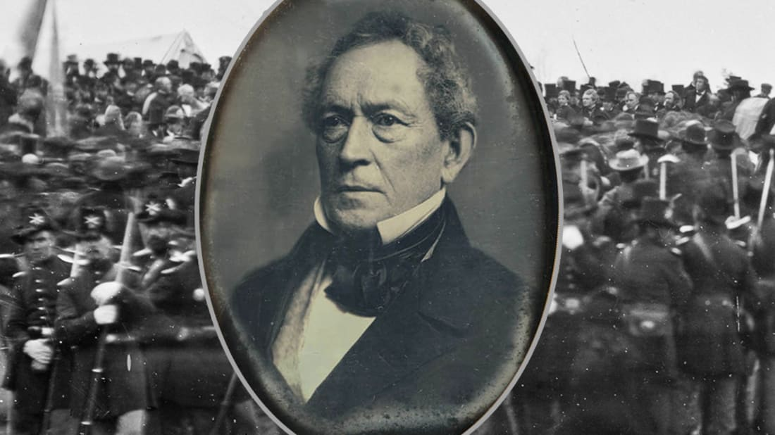 Image Composite: Edward Everett (Wikimedia Commons), Background (Wikimedia Commons)
