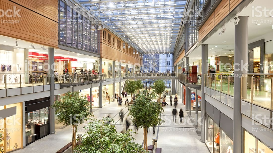 Shopping malls like these are home to a variety of popular staples.