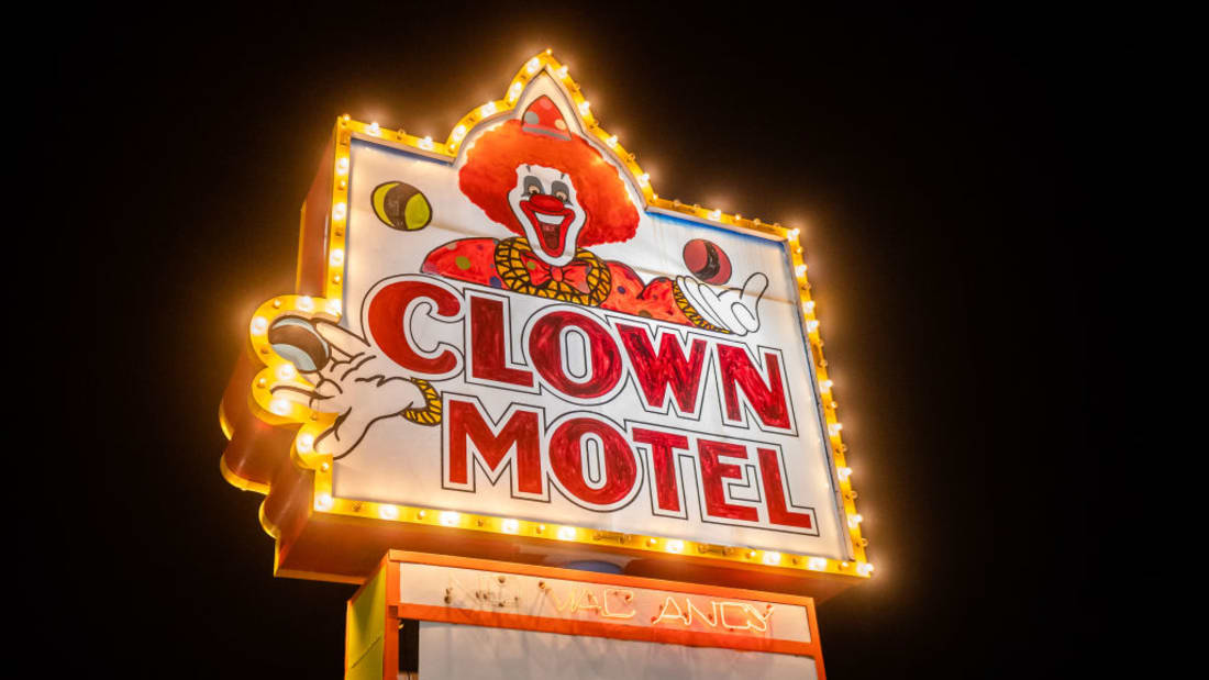 Spend a night at Nevada's Clown Motel ... if you dare.