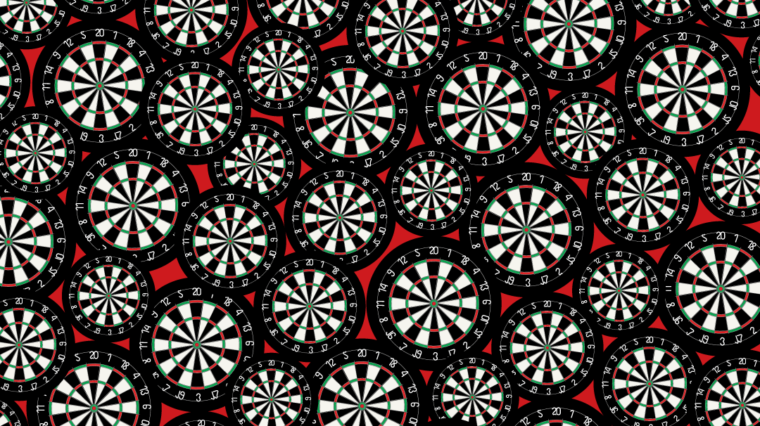 Can You Spot the Three Red Darts on This Image Full of Dartboards in Less Than 15 Seconds?