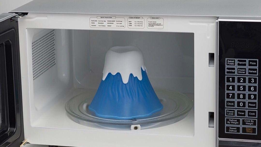 Cleaning Your Microwave Just Got Easier With a Volcano That Erupts Stain-Removing Steam