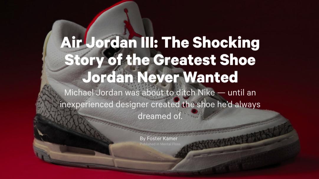 Air Jordan III: The Shocking Story of