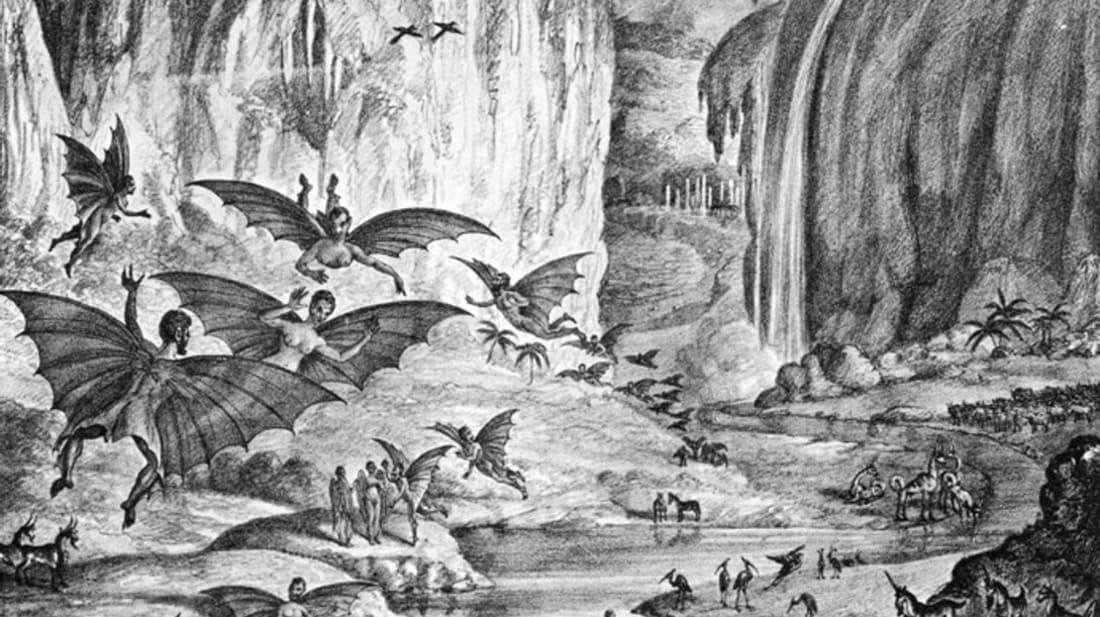 In the 19th century, a New York newspaper convinced readers these creatures lived on the Moon.
