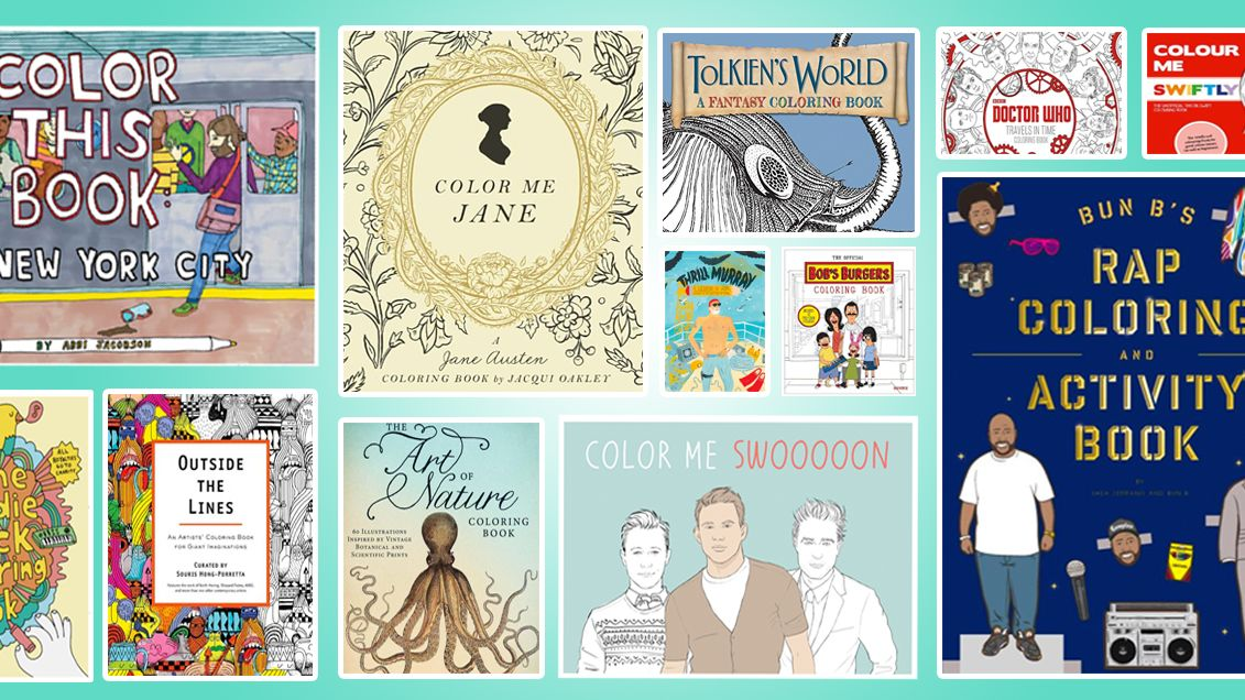 50 Amazing Coloring Books To Celebrate National Book Day