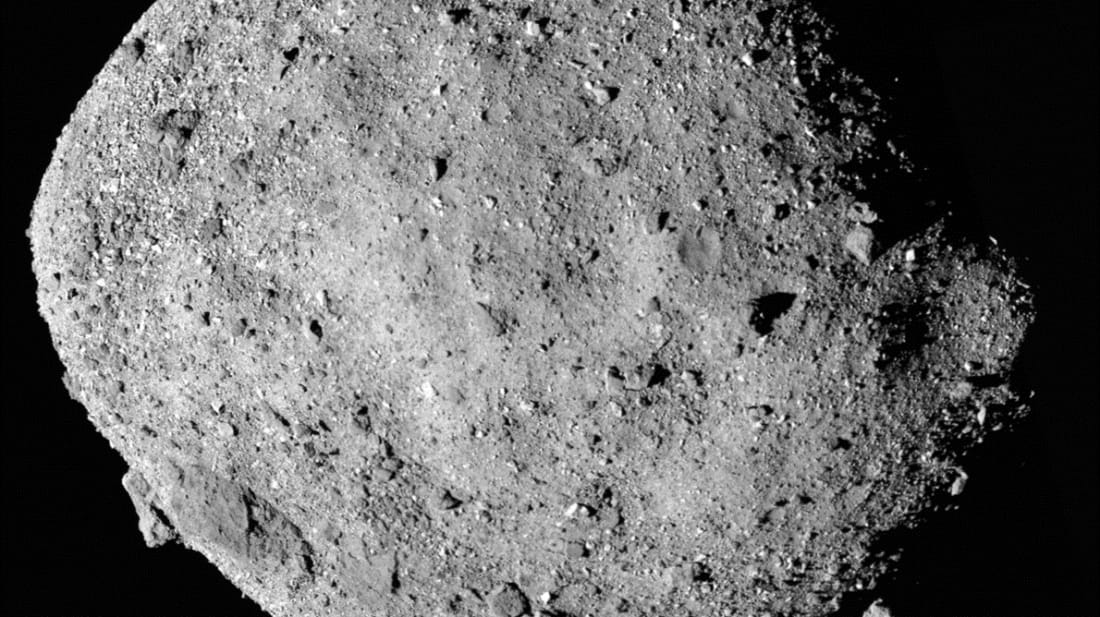 A mosaic image of asteroid Bennu