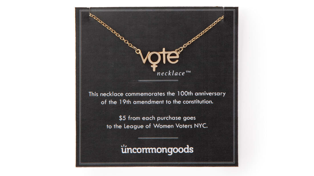 Celebrate the 19th Amendment's 100th Anniversary With This Necklace