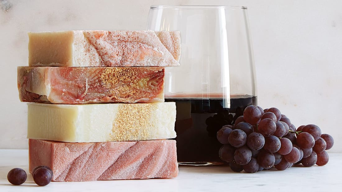 These wine soaps are made to smell like chardonnay, cabernet, pinot noir, and pinot grigio.