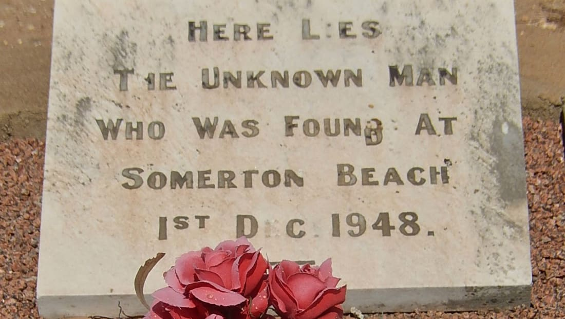The grave of the Somerton Man in Adelaide, South Australia