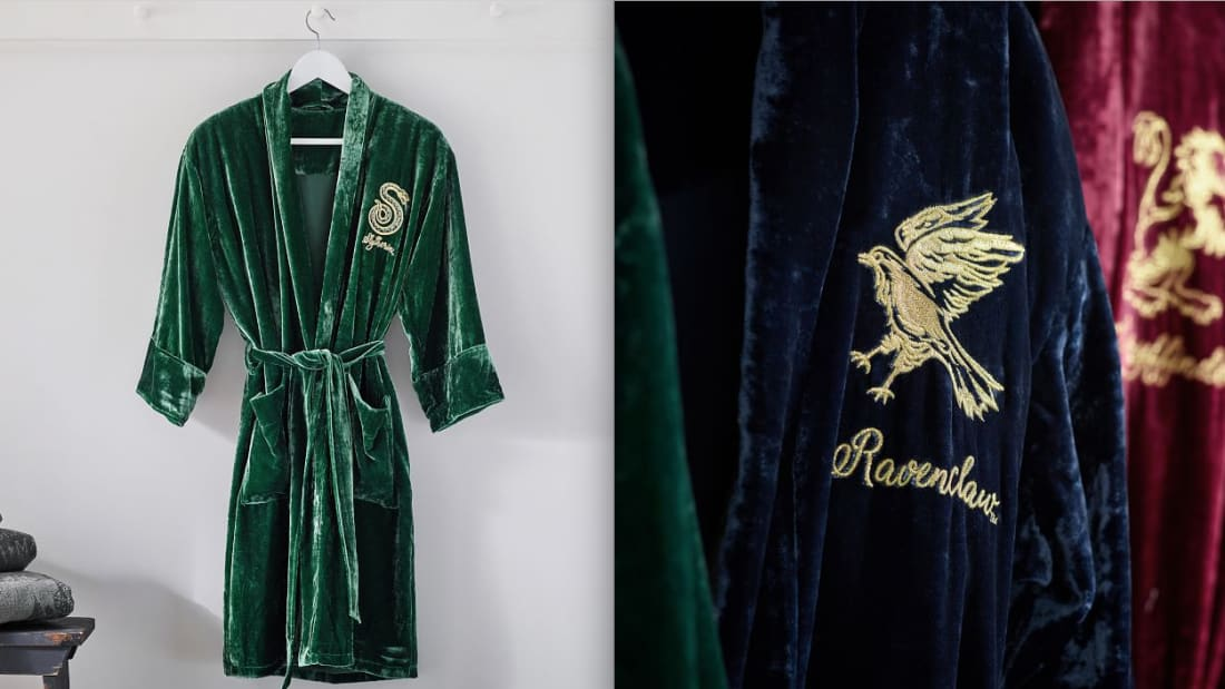 Curl Up in a Cozy Harry Potter Bathrobe to Match Your Hogwarts House