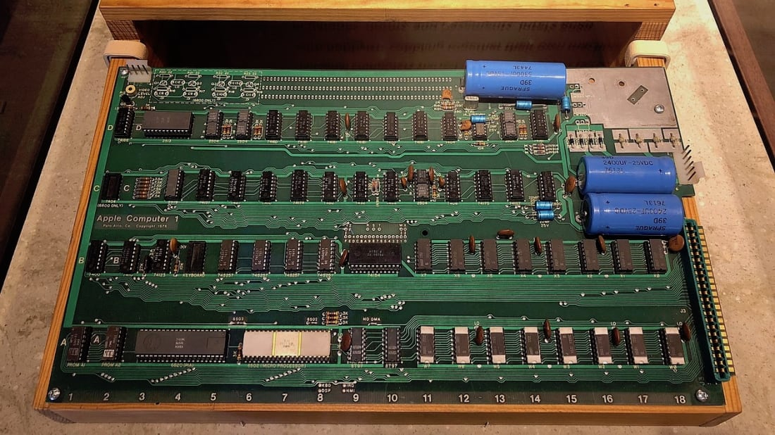 This Apple-1 computer is worth a hefty chunk of cash.