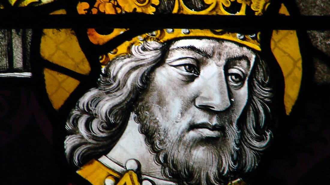 A representation of Charlemagne from the Cathedral of Moulins, France