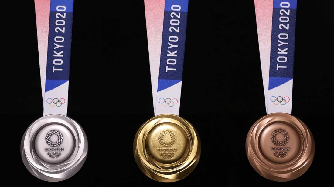 Winter Olympics 2020 Medals.The New Tokyo 2020 Olympic Medals Are Made From Recycled