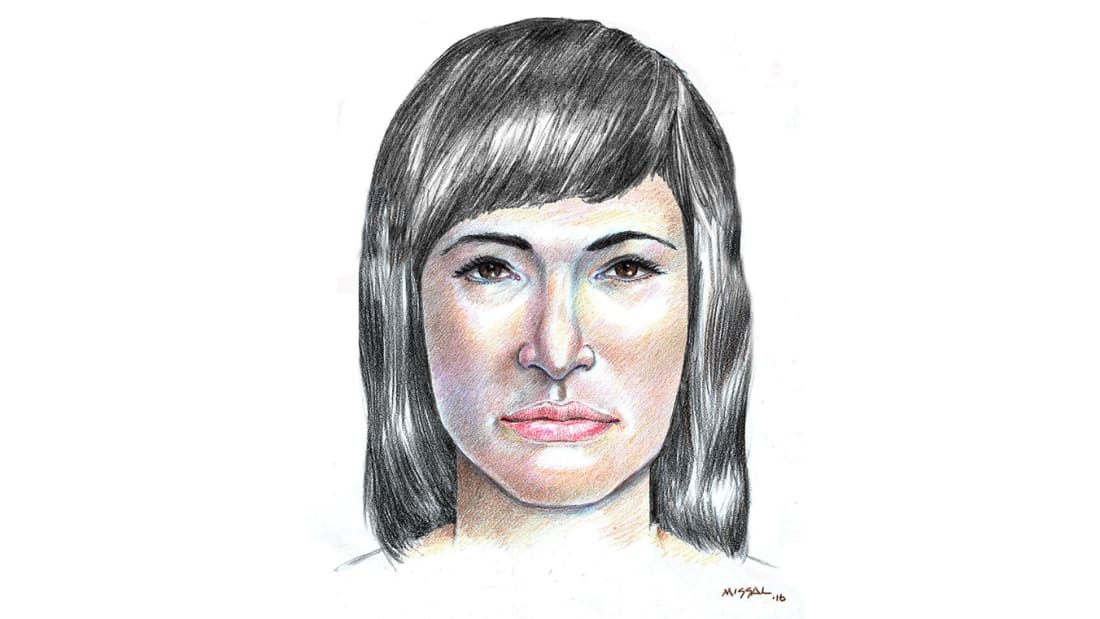 A 2016 sketch by a forensic artist of the Isdal Woman