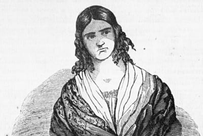 Madame Restell as imagined in the March 13, 1847, edition of the National Police Gazette.
