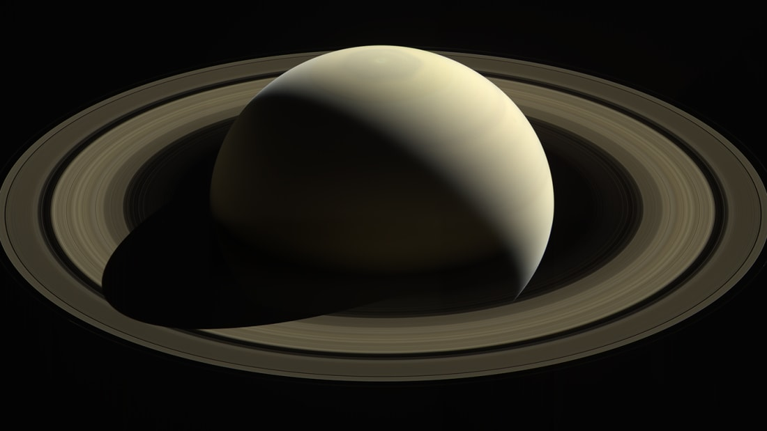 Cassini captured this sublime image of Saturn four days before it plunged into the planet's atmosphere.
