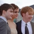 Daniel Radcliffe, Emma Watson, and Rupert Grint (left to right) at the world premiere of Harry Potter and the Deathly Hallows – Part 2.