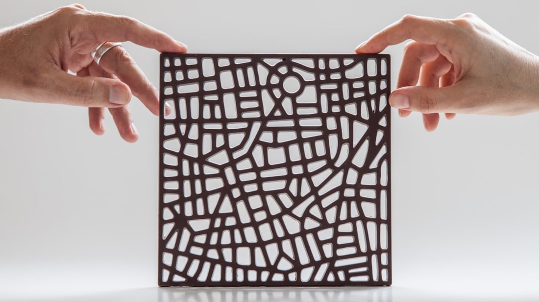 Chocolate map of Tel Aviv.