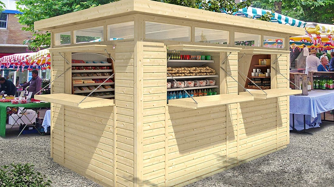 This Tiny DIY Kiosk From Amazon Would Make a Great Backyard Bar—or Chicken Coop
