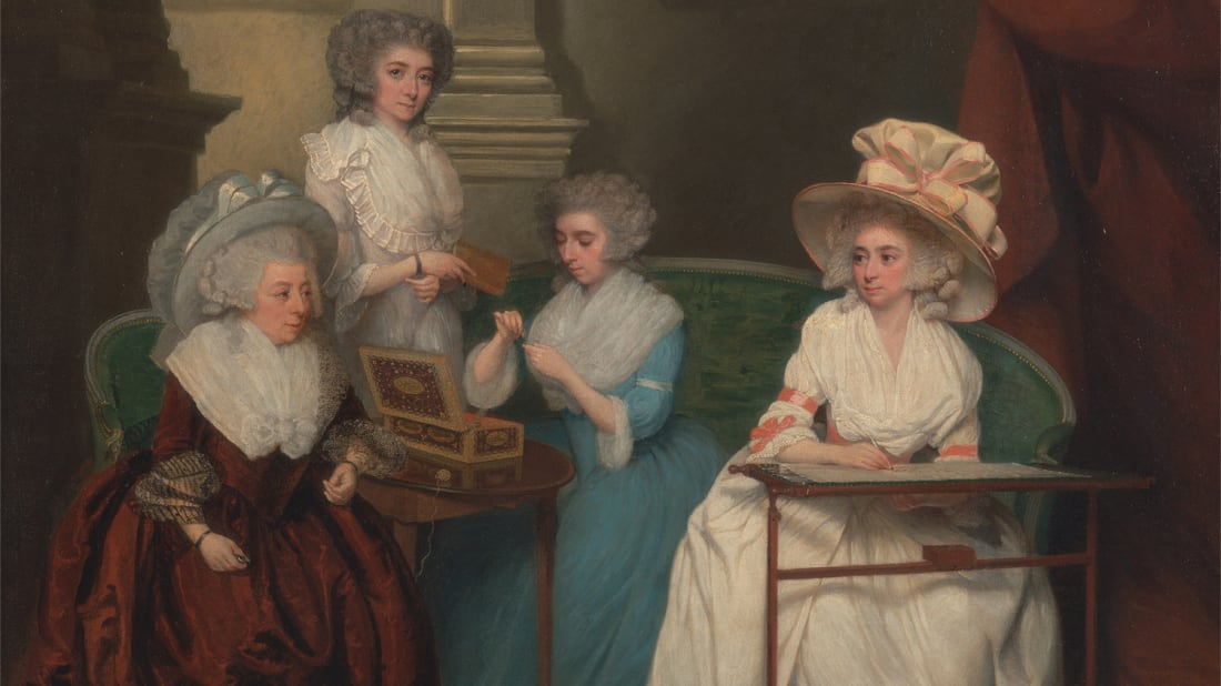 Lady Jane Mathew and Her Daughters, unknown artist, 1790.Courtesy the Yale Center for British Art, Paul Mellon Collection